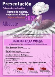 PRESENTACIÓN CALENDARIO MUJER: Albacete, 31 enero (17 h)